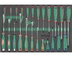 Набор отверток, 24 штуки, EVA ложемент, D71P124SV