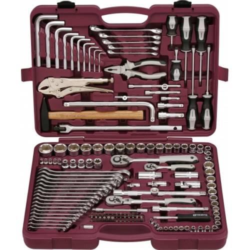 """Набор инструмента универсальный 142 предмета, 1/4"""", 3/8"""" и 1/2""""DR, UTS0142"""