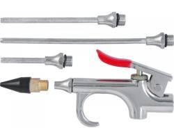 Пистолет продувочный с насадками в наборе, 5 предметов блистер, ABGK5