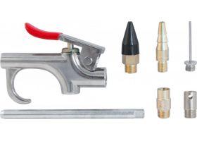 Пистолет продувочный с насадками в наборе, 7 предметов блистер, ABGK7