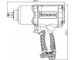 "Гайковерт пневматический 1/2""DR 7500 об/мин, 680 Nm, AIW1268"