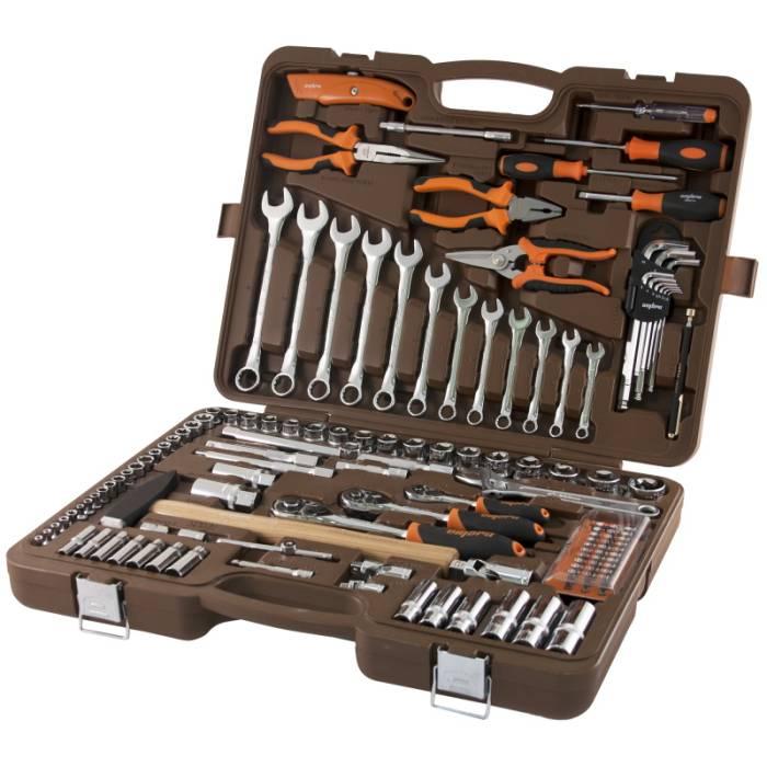 """Универсальный набор инструментов 1/4"""", 3/8'' и 1/2"""", 131 предмет, OMBRA,  OMT131S"""