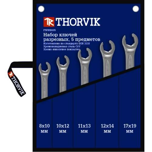 Набор ключей разрезных в сумке 8-19 мм, 5 предметов, FNWS005