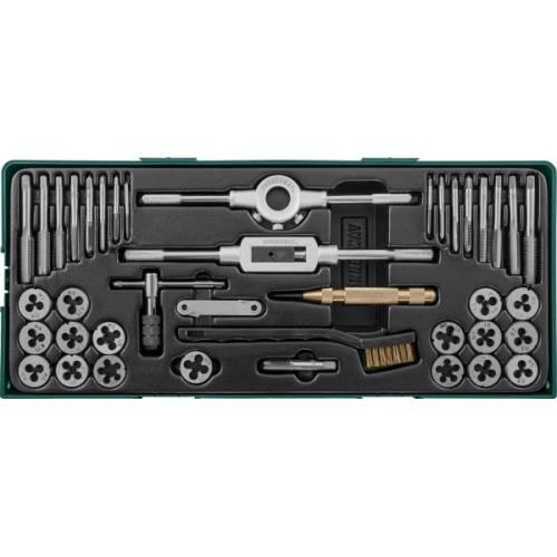 Набор метчиков и плашек с аксессуарами 40 предметов, ложемент., AG10001SP