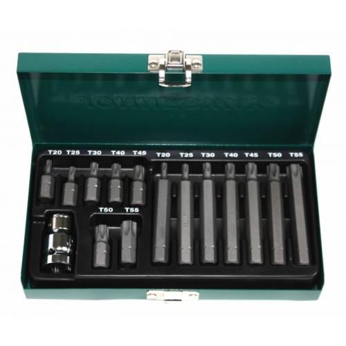 Набор вставок (бит) Торкс (30 и 75 мм), Т20-Т55, 15 предметов, S29H4215S