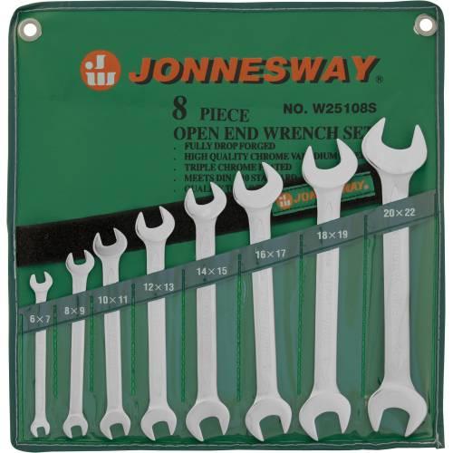 Набор ключей рожковых 6-22мм, 8 предметов, W25108S