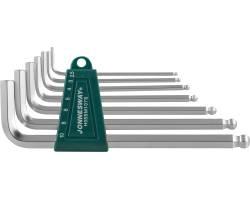 Комплект угловых шестиграников LONG с шаром 2,5-10мм, 7пр. S2 мат., H05SM107S