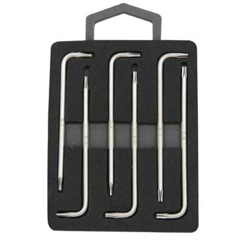 """Комплект угловых ключей """"TORX"""" с центрированным штифтом Т4-Т9, 7 предметов S2 материал, H09MT06S"""