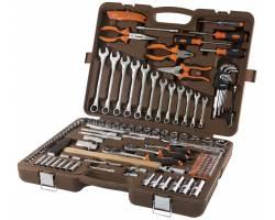 "Унив-ный набор ин-та торц. головки 4-32мм, E4-Е24, 1/4"", 3/8"" и 1/2""DR и ак-ры к ним, комб-ные ключи 8-19мм, от-ки и угл. ключи 1,5-10мм, 131 предмет, OMT131S"
