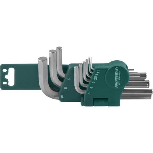 H01SM109S Комплект угловых шестиграников 1,5-10мм, 9 предметов S2 материал