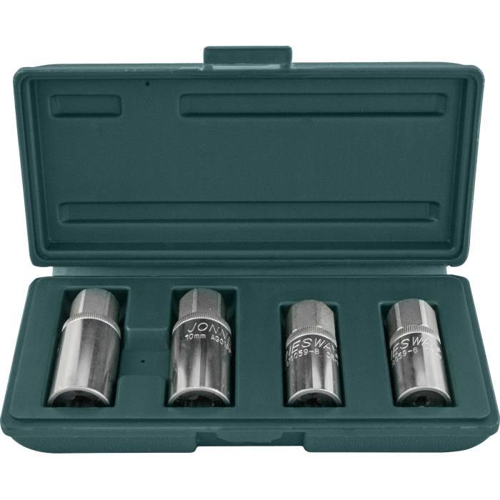 Комплект шпильковертов 6, 8, 10, 12мм, 4 предмета, AG010059