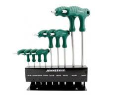"""Комплект угловых ключей  """"TORX"""" двусторонних с центрированным штифтом  Т10-Т50, 9 предметов S2 материал, H10MT09S"""