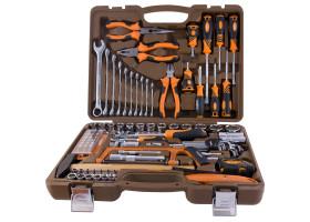 """Универсальный набор инструмента торцевые головки 4-32мм, Е4-Е24 1/4"""", 3/8"""" и 1/2""""DR удлиненные и обычные, и аксессуары к ним, комбинированные ключи 8-19мм, ключ разводной 200мм, шестигранники 1,5-10мм, отвертки 2шт, индикаторная отвертка, н"""