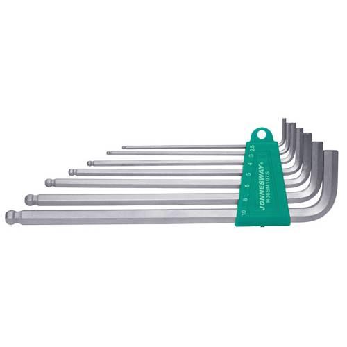 Комплект угловых шестиграников  LONG с шаром 2,5-10мм, 7 пр. S2 мат., H06SM107S