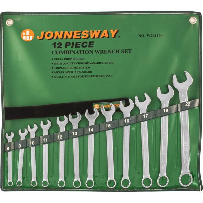 Набор ключей комбинированных 8-22мм, 12 предметов, W26112S
