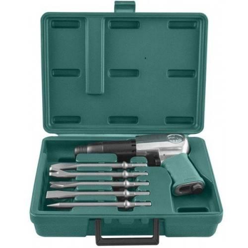Набор пневматического инструмента молоток - 2100 уд/мин 283 л/мин и комплект насадок, 8 предметов, JAH-6833HK