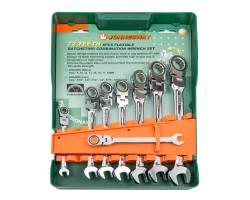 Набор ключей комбинированных трещоточных с карданом 8, 10, 12, 13, 14, 15, 17, 19мм, 8 предметов, W66308S