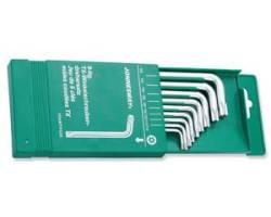 """Комплект угловых ключей """"TORX"""" с центрированным штифтом Т10-Т50,7пр. S2 материал, H08MTP09S"""