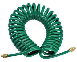 Шланг полиуретановый  спиральный 6,5ммх10мм,  15м , JAZ-7214S