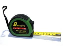 Рулетка, 8м, эргономический резиновый корпус, MT0204